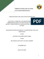 ESTABILIDAD DIMENSIONAL DE SILICONA DE CONDENSACIÓN