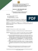 Directiva 007 - Estructura de Proyecto de Tesis