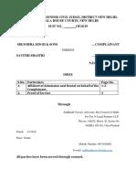Affidavit for Admission or Denial