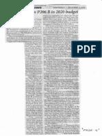 Philippine Star, Dec. 4, 2019, Senators realign P206 B in 2020 budget.pdf