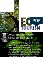 Ecotourism Notes
