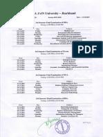 3rd Sem Date Sheet