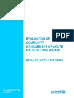 Tbr - Unicef - CMAM - Nepal Evaluation