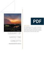 Summary of Marketing Concepts