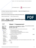 Supply Chain Management - - Unit 1 - Week 1 Supply Chain Management _ Practices and Competitiveness
