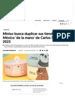 Miniso Busca Duplicar Sus Tiendas en México 'de La Mano' de Carlos Slim Para 2023
