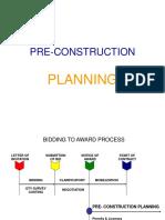 Pre Construction Planning