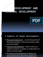 Human Development and Personal Development
