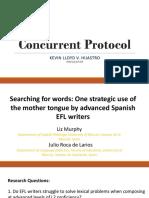 Concurrent Protocol by Kevin Lloyd v. Hijastro
