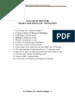 Analyse Du Discours Traduction Francais -Vietnamien