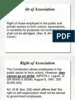 Right of Association