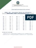Detran RJ 2013-Gabarito(Inglês)