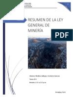 Ley General de Minería Resumen
