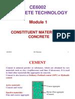 Constituent materials
