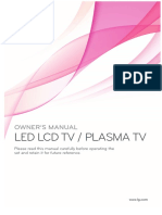 "Manual for 50"" Plazma television from the Manufacturer ""LG"""
