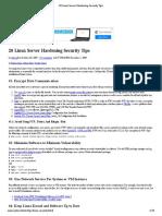20 Linux Server Hardening Security Tips