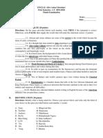 Sample Test Questionnaire