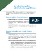 Introducción a la información jurídica y administraciones públicas