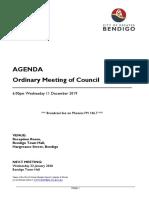 City of Greater Bendigo council meeting agenda - December 11, 2019
