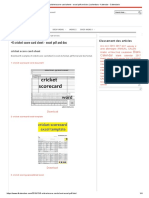+6 cricket score card sheet - excel pdf and doc format