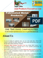 Fabricated Metal Products Executives List