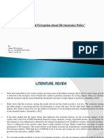 Awareness and Perception About Life Insurance Policy