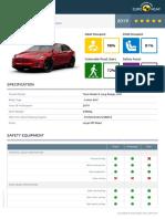 Euroncap 2019 Tesla Model x Datasheet