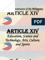 The 1987 Constitution of the Philippines, Article XIV