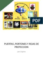 Puertas 2cportones y Rejas de Proteccion