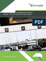 Traffic Engineering Manual Volume 1 Chapter 14 Lane Control and Transit Lanes Aug 2014 Ed 5