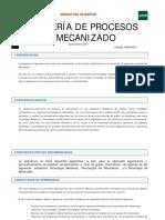 GUIA INGENIERÍA DE PROCESOS DE MECANIZADO
