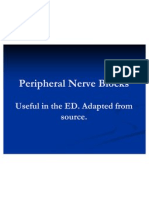 Peripheral Nerve Blocks for the ED .Edited