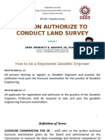 GE 104 Lecture 1 Person Authorized to Conduct Land Survey.ppsx