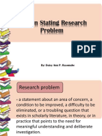 Ways in stating research problem