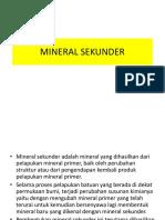 Mineral Sekunder