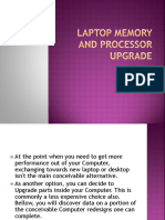 Laptop Memory and Processor Upgrade