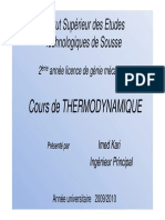 Thermodynamique Cours