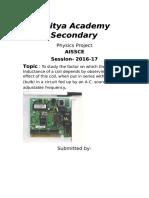 DocGo.net-Aditya Academy  Physics Project
