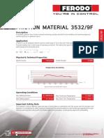 Ferodo Data Sheets 3532 9F