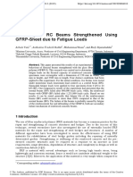Durability of RC Beams Strengthened Using GFRP-Sheet due to Fatigue Loads