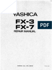 Yashica FX-3 & FX-7 Repair Manual