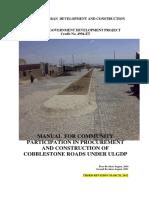 Community Participation in Procurement and Construction of Cobblestone Roards Manual