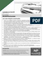Quadrix 2012 Cfp Psicologia Neuropsicologia Prova