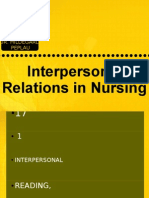 Interpersonal Relations in Nursing