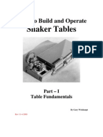 How To Build and Operate Shaker Tables