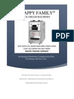 Sample Integrated Marketing Communications Plan Happy Family Ice Cream Machines