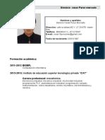 Curriculum Vitae Perez