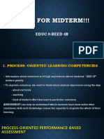 Midterm in assessment of education