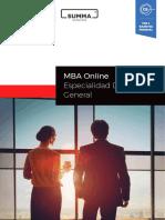 IEP SUMMA-MBA Especialidad en Direccion General