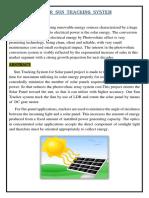 Solar Sun Tracking Systemhhhh